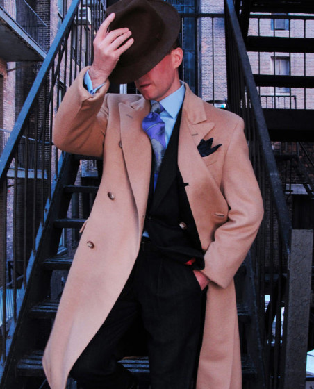 Fitted custom overcoat