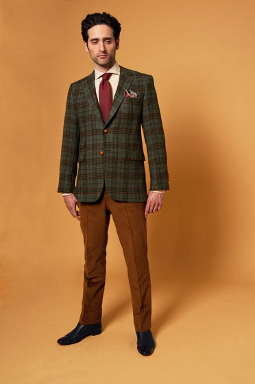 Scottish tweed custom jacket