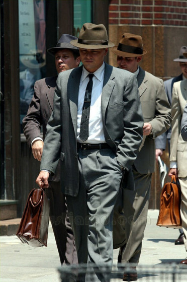Leo D'Caprio wearing custom suit
